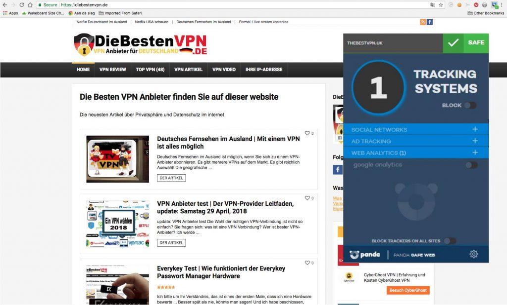 Panda VPN Erfahrung website