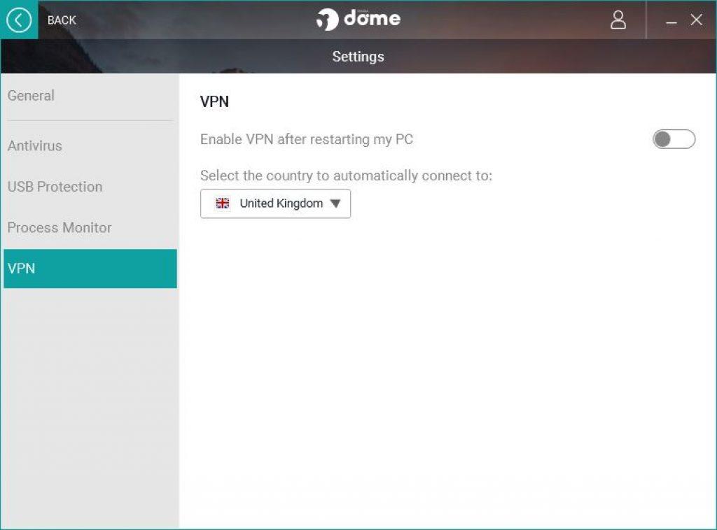 Panda VPN Erfahrung settings