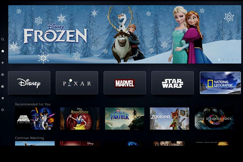 disney plus interface